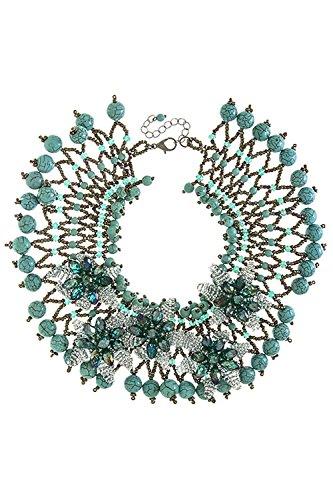 TRENDY FASHION JEWELRY 3D FLORAL DESIGN BIB NECKLACE BY FASHION DESTINATION by Fashion Destination
