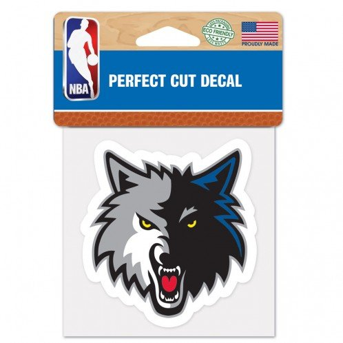 fan products of NBA Minnesota Timberwolves Perfect Cut Color Decal, 4