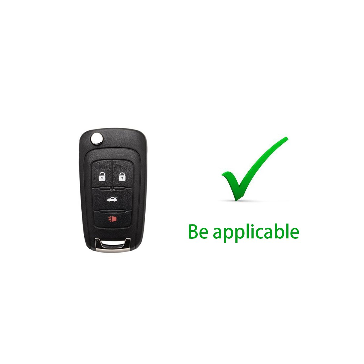 MODIPIM Keyless Entry Remote Case Key Fob Cover With Diamond Tassel Key Chain Soft TPU Holder Shell Covers For Buick LaCrosse Regal Encore Verano 2//3//4//5-Button Color Blue