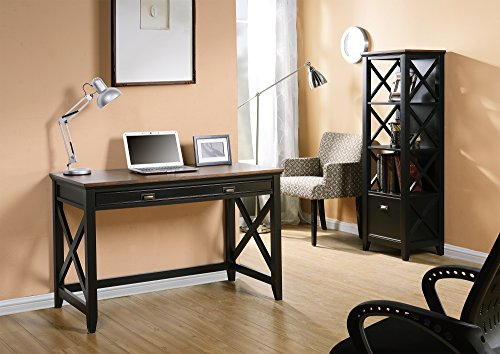 HOMESTAR Z1510470 Writing Desk with 1 Drawer, Natural Wood Veneer