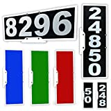CIT Group Mailbox Address Plaque, Black Vertical or Horizontal, Reflective 911 Plate, Mailbox Topper. Most Visible Mailbox Address Marker on The Market!