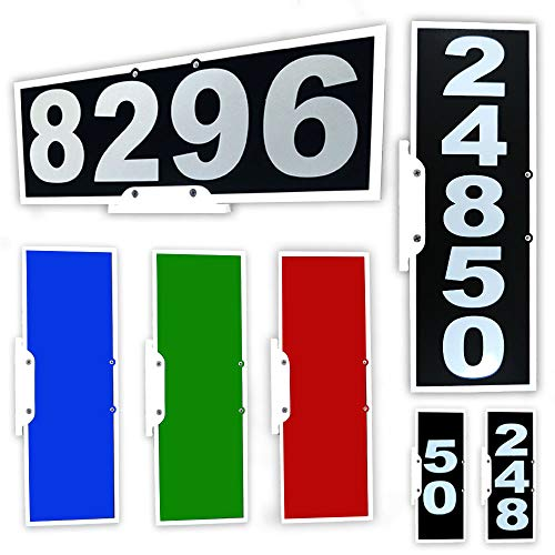 - CIT Group Mailbox Address Plaque, Black Vertical or Horizontal, Reflective 911 Plate, Mailbox Topper. Most Visible Mailbox Address Marker on The Market!