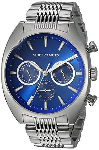 Vince Camuto Men's VC/1040BLSV Multi-Function Silver-Tone Bracelet Watch (Watch Multifunction Dress)