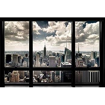 Amazon.com: New York City Skyline-Brooklyn Bridge