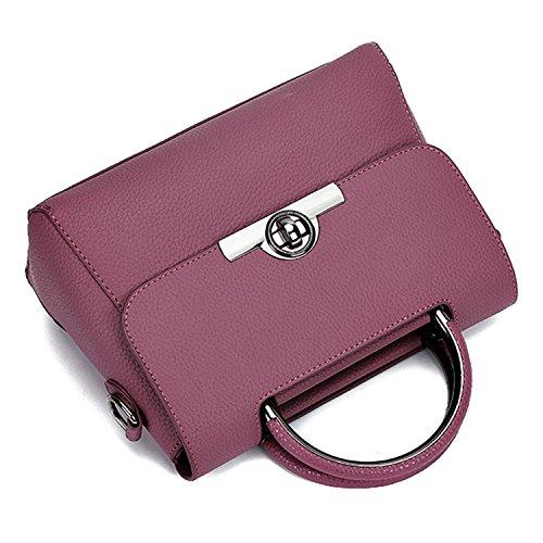 BYD mujeres Mini bolsa de hombro Bolso de monedero de mensajero de leather bolso de hombro de moda de vendimia mujeres Take-hebilla de metal de más seguro pasta de judías rojas