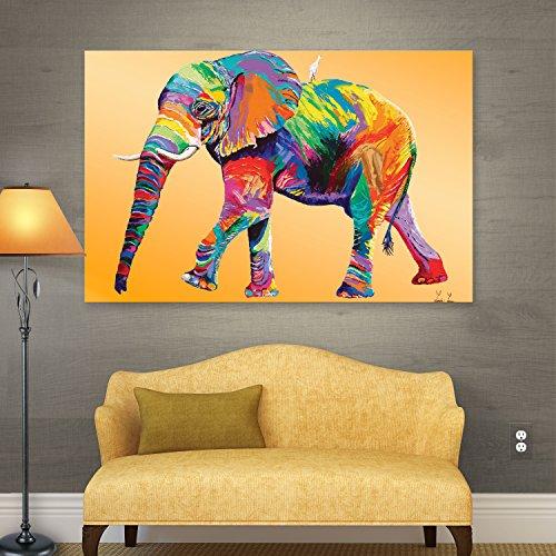 Colorful Elephant Canvas Wall Decor: Amazon.com