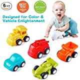 VATOS Toddler Car Toys, 6 Pack Toy Cars Free Wheel, City Traffic Little Cars 1 Year Old+, Push Go Baby Toys, Inertia Toy Cars Early Educational Toddler Toys 1-2 Years Old Boys Girls