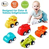Toddler Toys Vehicles,Vatos 6 Pack Toy Car Free Wheel, City Traffic Vehicles Sets, Little Car Toy, Push and Go Baby Toys, Inertia Toy Early Educational Toddler Toys for 1.5-4 Years Old Boys and Girls