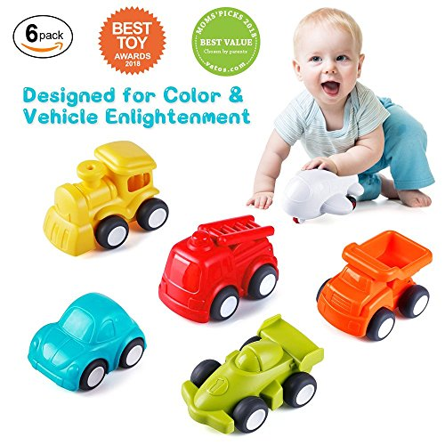 Toddler Toys Vehicles,Vatos 6 Pack Toy Car Free Wheel, City Traffic Vehicles Sets, Little Car Toy, Push and Go Baby Toys, Inertia Toy Early Educational Toddler Toys for 1.5-4 Years Old Boys and Girls by VATOS