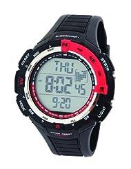 Dunlop Diviner Men's Quartz Watch with Black Dial Digital Display and Black Plastic Strap DUN-226-G07
