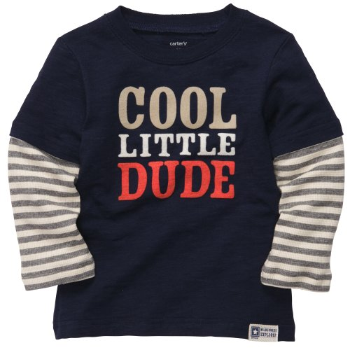 Layered Look Graphic Tee - Carter's Baby Boys Layered-look Graphic Tee (3M-24M) (18 Months, Navy)
