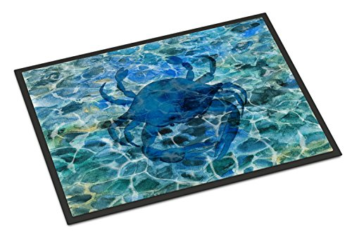 Carolines-Treasures-Blue-Crab-Under-Water-Doormat-18-H-x-27-W-Multicolor