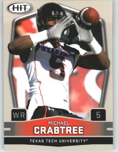 2009 Sage HIT 5B Michael Crabtree WR (Ball in Air)(RC - Rookie Card - Variation) First Card of the 2009 NFL - In Crabtree Stores