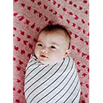 Jersey-Swaddle-Blanket-Baby-Blanket-Boys-or-Girls-Nursing-Cover-by-Lubella-Supply-Company-Black-and-White-Stripes