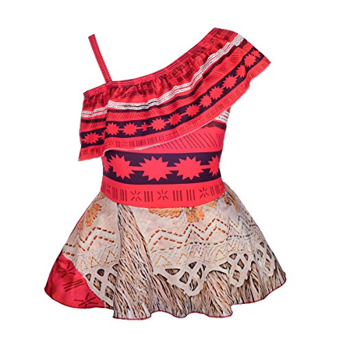 Dressy Daisy Girls Moana Swimsuit Bathing Suit Adventure Outfit Swimwear Size 8