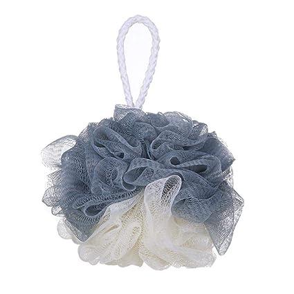 zhongleiss Pelota de baño grande azul y blanca, fácil de hacer ...