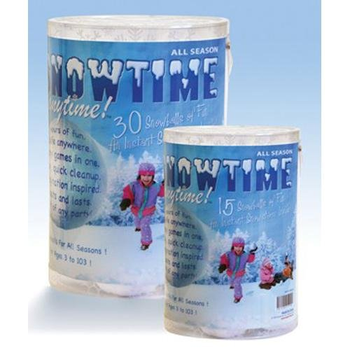 30 Pack Indoor Snowball Fight - Snowtime Anytime - Safe, No Mess, No Slush]()