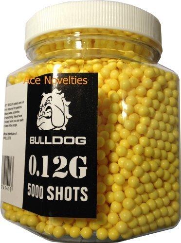 Bulldog High Pro Grade - Munición para pistolas de balines de peso medio (bote de 5000 perdigones de 6 mm y 0,12 g), color amarillo Bulldog Airsoft