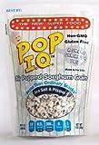 Pop I.Q. – The Best Healthy Snack – Organic Air Popped Sorghum Grain, Sea Salt & Pepper Flavor – non-GMO, Vegan, Gluten-Free (Pack of 12 Single Servings)