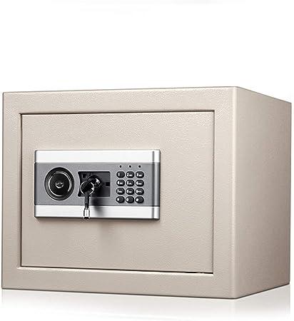 Lpinvin OF Caja Fuerte Caja de Seguridad Digital de Seguridad Electrónica, Hogar del gabinete de Seguridad con Claves y Bloqueo Digital Caja Fuerte para el Dinero (Color : Gris, Size : 37x31x30cm):