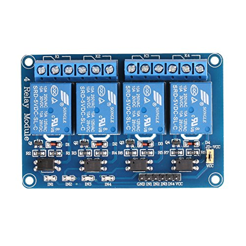 JBtek 4 Channel DC 5V Relay Module for Arduino Raspberry Pi DSP AVR PIC ARM primary