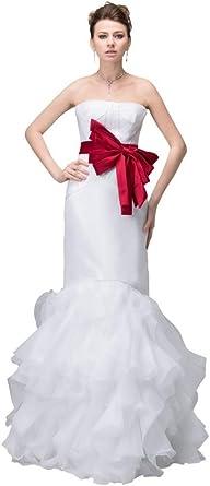 Orifashion Voguish White Organza Slim Line Evening Dress