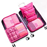 WOWTOY 6PCS Packing Cubes Value Set for Travel Luggage Organiser Bag Compression Pouches Clothes...