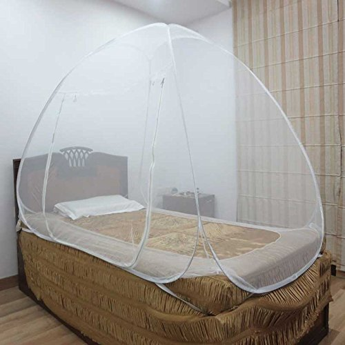 Healthgenie Foldable Mosquito Net Single Bed - White