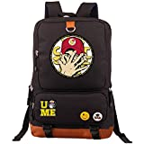 YOURNELO Cool WWE World Wrestling Federation Backpack Canvas School Bag Bookbag (Black4)