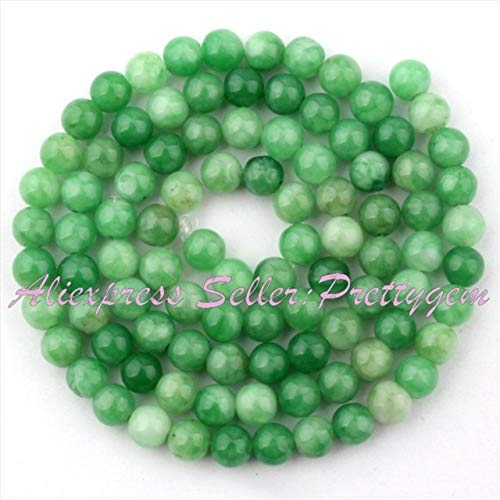 Calvas 6,8,10mm Smooth Round Beads Ball Green Candy Jades Stone Beads for Necklace Bracelets Earrings Jewelry Making 15