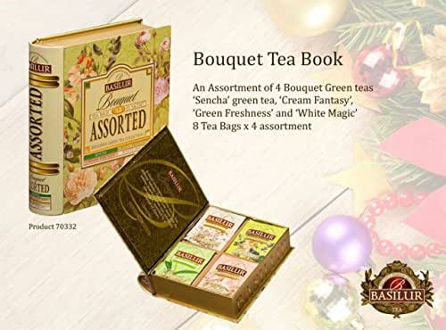 Basilur Tea Book Foil Enveloped Tea Bags Magic Fruit Assorted, 2 Gram