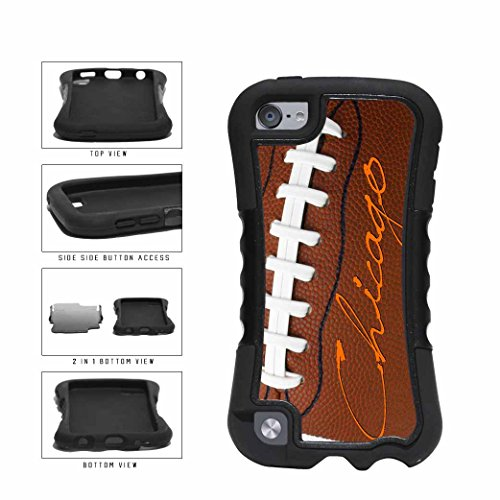 o on Detailed Football 2-Piece Dual Layer Phone Case Back Cover Apple iPod Touch 5th Generation (Hybrid Full Face Helmet)