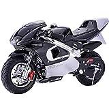 Superrio New Gas Mini Pocket Bike Motorcycle 40cc 4-Stroke Engine (Black)