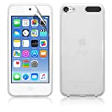 NEW IPOD TOUCH 6TH GENERATION (6TH GEN) CLEAR TPU GEL CASE BACK COVER + SCREEN PROTECTOR & CLEANING CLOTH By Zon