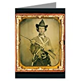 12 Vintage Notecards of Southern Civil War Cavalry Soldier in Uniform with Slant Breech Sharps Carbine, Two Knives, and Two Revolvers-ambrotype /Tintype From the Civil War