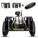 Mobile Game controller, Aimus Sensitive Aim Triggers and Game Grip Joystick for PUBG/Fortnite/ Knives Out/Rules of Survival, Gamepad for iPhone, Samsung and Android Smart phones (Black)