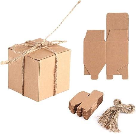 ZHHO 50PCS Caja de Regalo de Boda Decoración rústica del bebé los Regalos de Boda Ducha Caramelo Caja de Embalaje Cartones Parte de Chocolate for Clientes Packing (Gift Box Size : 5x5x5cm):
