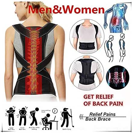 Wanzi2 Adjustable Posture Corrector Back Shoulder Support Correct Brace Belt Men Women Clavicle Support and Providing Pain Relief from Neck,Back and Shoulder Posture Orthosis
