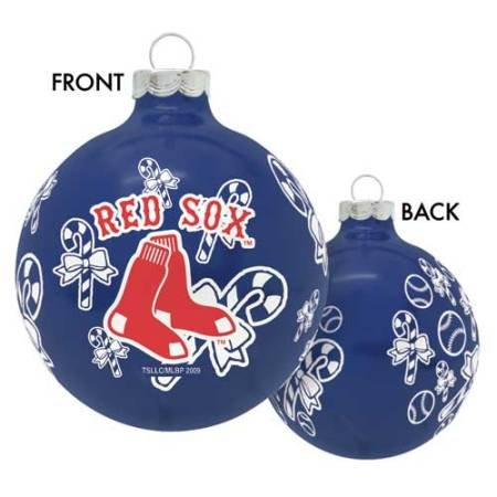 - Boston Red Sox MLB Traditional Round Ornament