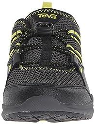 Teva Scamper Water Shoe (Toddler/Little Kid/Big Kid), Black/Grey/Lime-T, 13.5 M US Little Kid