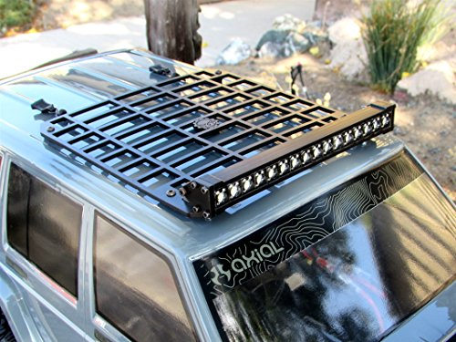 Gear Head RC Axial Jeep XJ White Trek Torch plus Roof Rack Combo