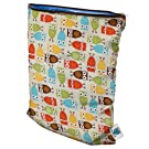 Planet Wise Wet Diaper Bag, Owl