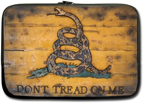 Dont Tread Me Pattern 13 Inch Laptop Computer Sleeve Notebook Cover Case Soft Computer Pouch Laptop Protective Bag Pouch