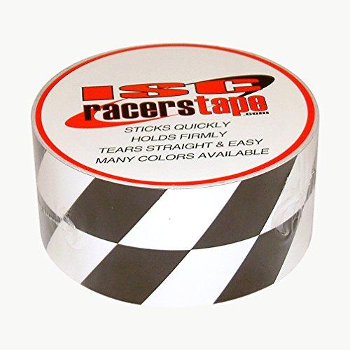 White Racer Checker - Isc Black & White Angled Checkerboard Part # RT5011