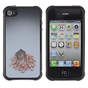CAZZ Rugged Armor Slim Protection Case Cover Shell // Cube // Apple Iphone 4 / 4S
