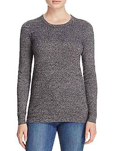 Private Label Crewneck Cashmere Sweater (Black/Wht TW, (Black Label Cashmere Sweater)