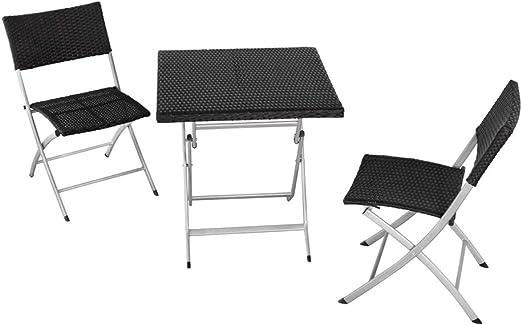 Aktive 61008 Conjunto muebles jardín, mesa y 2 sillas, Multicolor: Amazon.es: Jardín