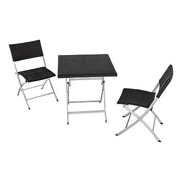 Aktive 61008 Conjunto Muebles jardín, Mesa y 2 sillas