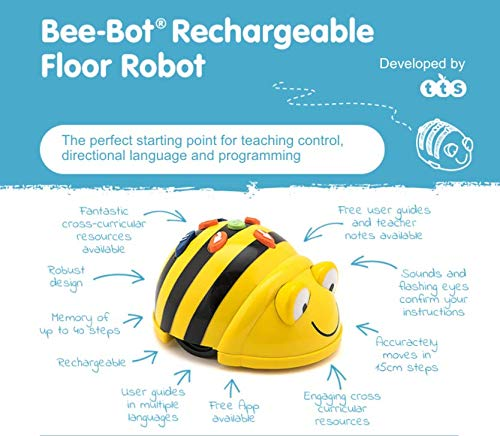TTS Bee-bot Educational Robot Helps to Teach Algorithms | Improve Directional Language and Programming Skills | Rechargeable - Pack of 2 by TTS (Image #1)
