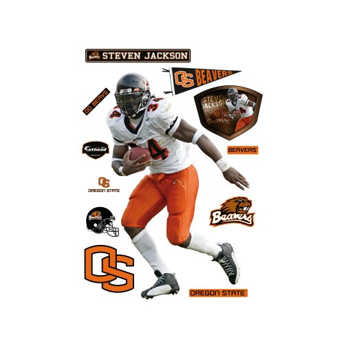 State Jackson Football (NCAA Oregon State Beavers Steven Jackson Wall Graphic)